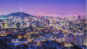 Korean city of seoul